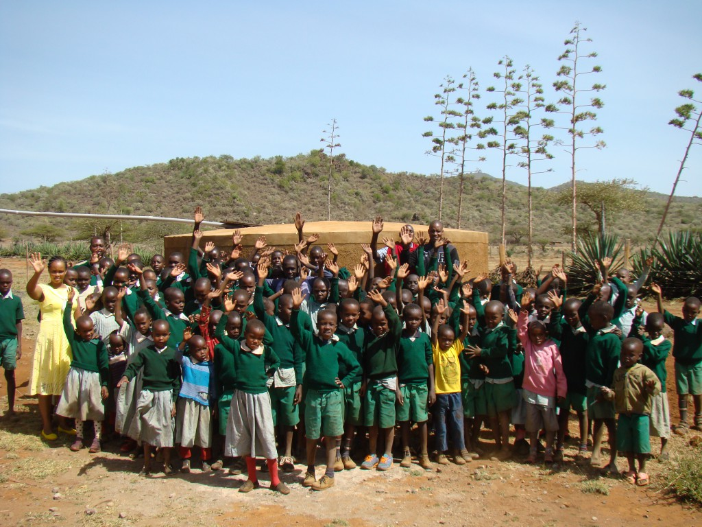 Kenya School Ryan's Well Challenge 2017/2018 Students celebrate receiving clean water