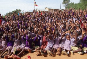 Children of Trinity Primary School are thriving with clean water from a protected spring